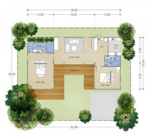 Khao Yai Villa B 2 Bedrooms 2 Bathrooms