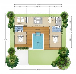 Khao Yai Villa C 3 Bedrooms 2 Bathrooms Pool